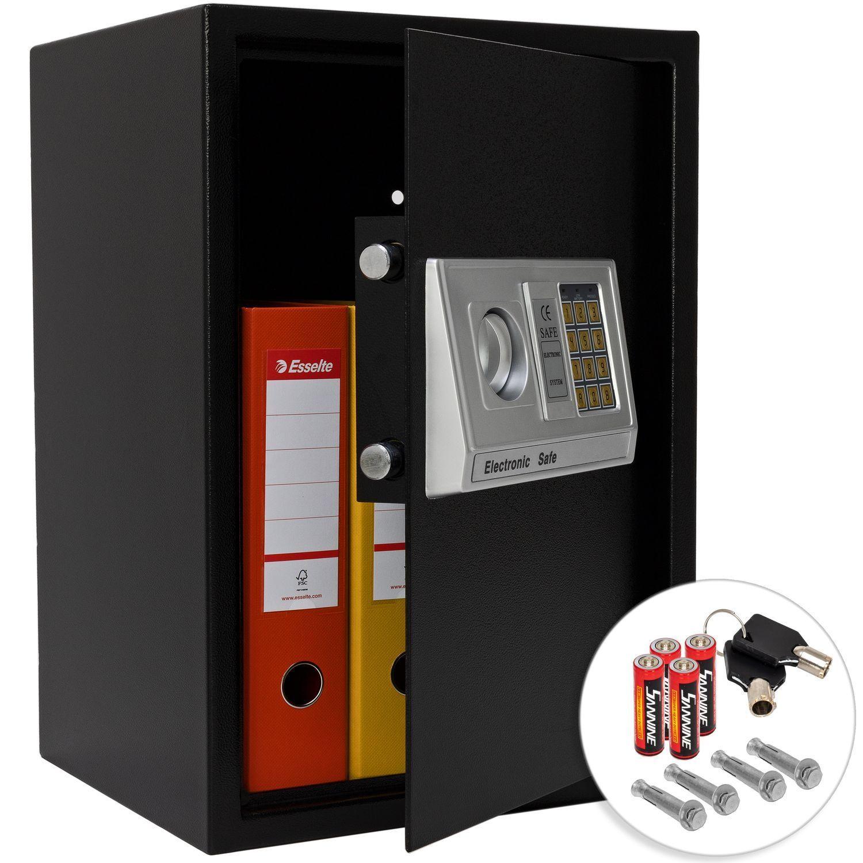 KESSER® Tresor Elektronischer 50x35x34,5 XXL Möbeltresor Safe Wandtresor Black