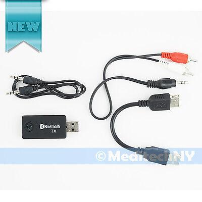 Wireless Bluetooth v3.0 Music Transmitter 3.5mm Stereo Audio Adapter USB Dongle