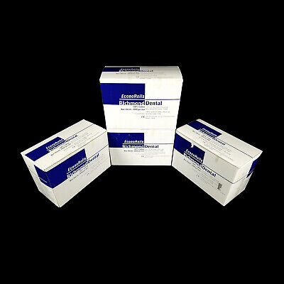 Lot Of 8000 Richmond Dental 216206 Econorolls Econo Cotton Rolls 4 Boxes 1