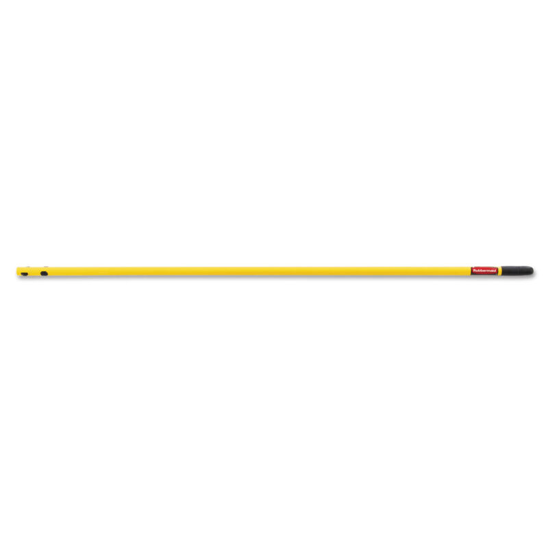 "Rubbermaid Commercial Quick-Connect Steel Mop Handle 52"" Yellow Q749YEL"