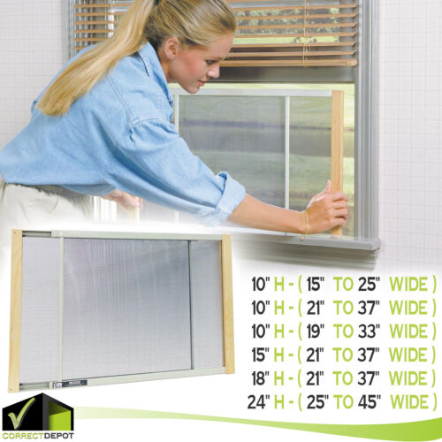WIDE ADJUSTABLE WINDOW SCREEN Anti-Pest Bug Expandable Mesh Net All Sizes