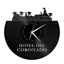 Hotel Del Coronado Vinyl Wall Clock Exclusive Gift for Friends Room Decoration