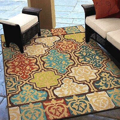 RUGS AREA RUGS 8x10 OUTDOOR RUGS INDOOR OUTDOOR CARPET LARGE KITCHEN PATIO RUGS - Large Kitchen Rugs