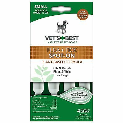 Vet's Best Topical Flea & Tick Treatment for Dogs - Plant Based (Best Dog Cleaning Products)
