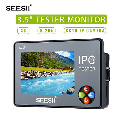 3.5 4k Cctv Ip Camera Tester Monitor Analog Test Onvif Ptz Control Touch Screen