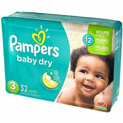 Pampers Baby Dry Diapers Size 3 , 32 (Pampers Baby Dry Size 3 32 Count)