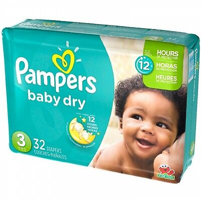 Pampers Baby Dry Diapers Size 3 , 32