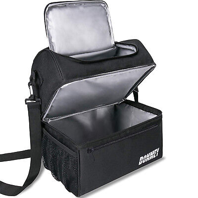Insulated Cooler Lunch Thermos Bag Work School Travel Men Women Lunch Box Tote