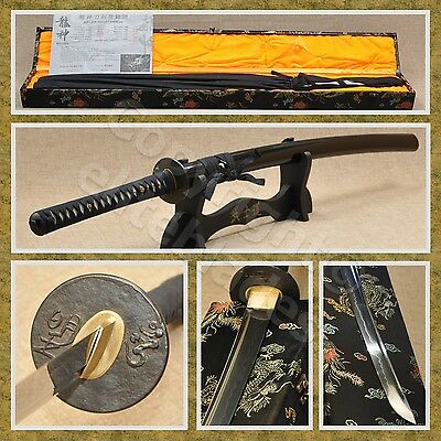 Ryujin 1095/T10 Steel Hand Forged Clay Tempered Samurai Katana Sword Live Blade