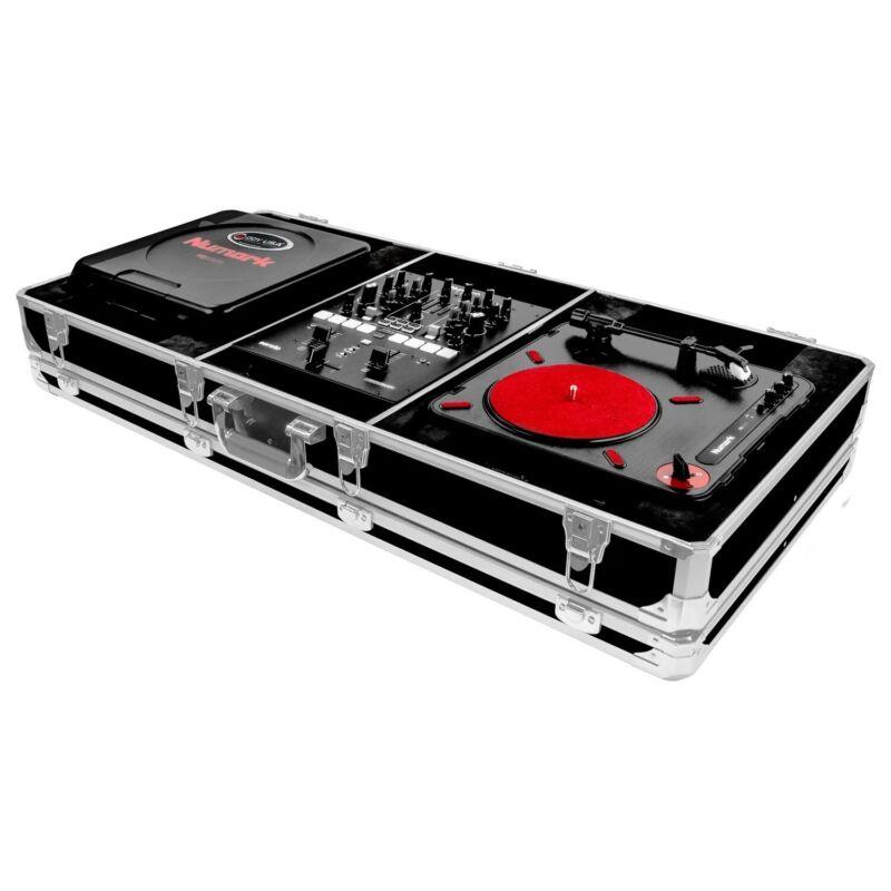 Odyssey K10PT01BLK DJ Coffin Case For DJ Mixer And Two Numark PT01 Turntable