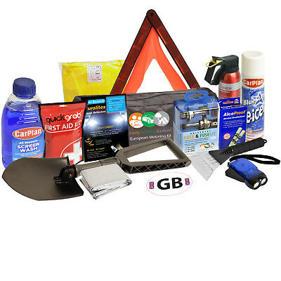 Winter Car Euro Travel Kit Intermediate Safety Weather Essential Snow Ice Europe