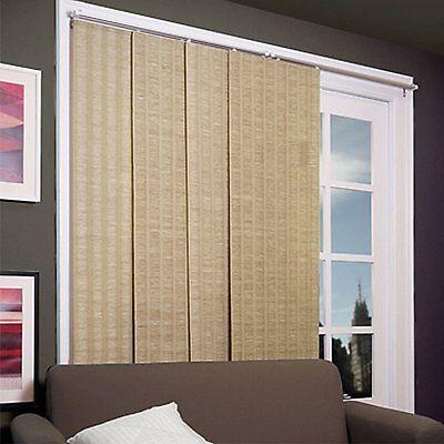 """Blinds For Sliding Glass Door Cordless Adjustable Sliding Panel 80"""" X 96"""" Maple"""
