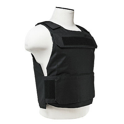 NcStar Discreet Lightweight Plate Carrier Tactical Vest Police SWAT M-XXL BLACK
