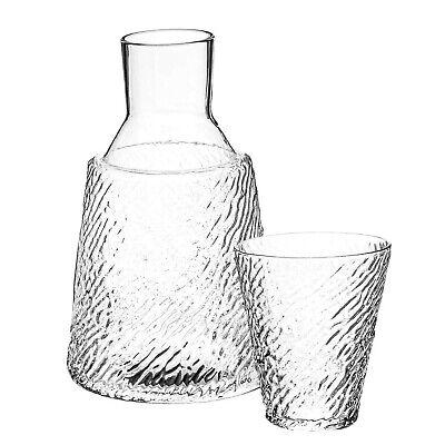 Trinkware Bedside Night Carafe With Tumbler Glass - 2 Piece Water Set - Zebra...