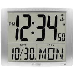 515-1316 La Crosse Technology Jumbo 7 Time Display Atomic Digital Wall Clock