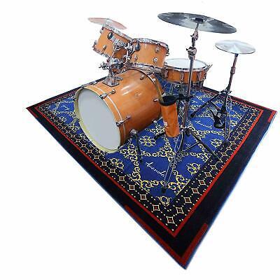 Drum Set Rug Non Slip Drum Mat 6ftX6.6ft
