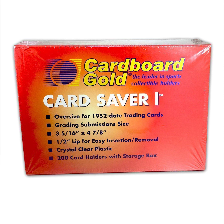 Cardboard Gold Card Saver 1 100 Card Savers