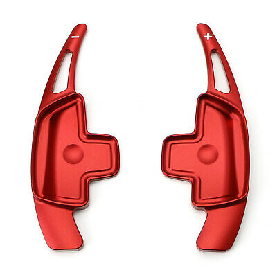 Red Aluminum Steering Wheel Paddle Shifter Extensions For Mercedes C E CLA