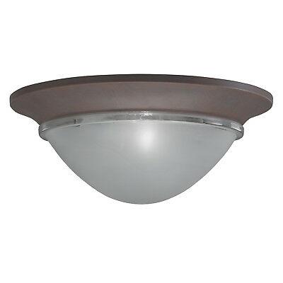 Brick Flush (Olde Brick 2 Light Flush Mount With Satin Etched)
