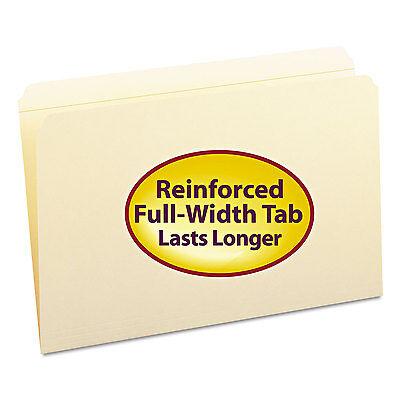 Smead File Folders Straight Cut Reinforced Top Tab Legal Manila 100box 15310