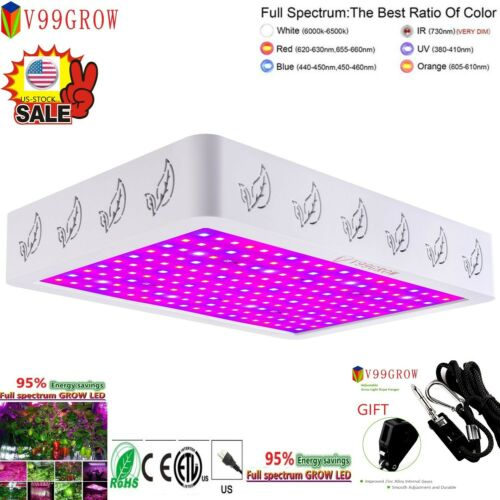 New V99GRO 1200/2000/4000W LED Grow Light Full Spectrum Veg&Bloom&Flower Switch Lamp V99GROW Does not apply for 39.85.