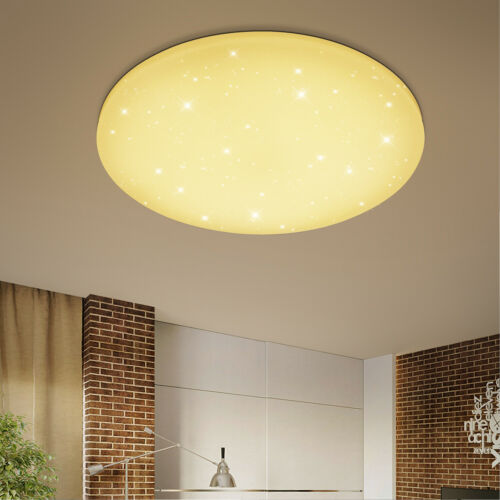 16W LED Deckenleuchte Starlight Deckenlampe Badleuchte Wandlampe Warmweiß