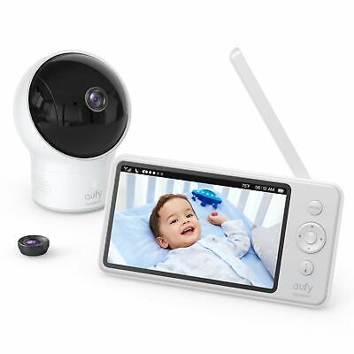 """eufy Security Video Baby Monitor with Camera and Audio 720p HD 5"""" Night Vision"""