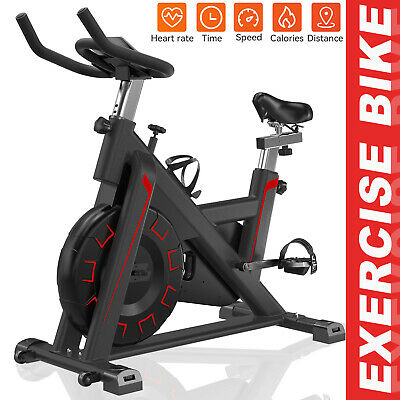 Pro Exercise Bike Indoor Cycling Bicycle Home GYM Fitness Workout Cardio Machine