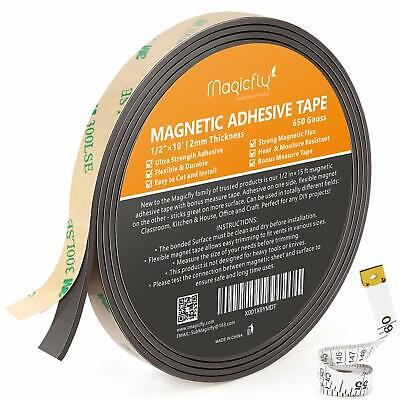 12 X 15magnetic Strip Tape Flexible Roll Adhesive Backed Magnet Sticky Back