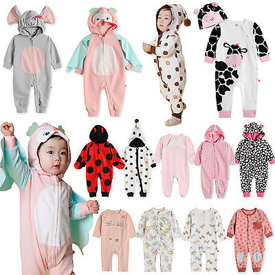 "Vaenait Baby Infant Hooded Romper Jumpsuit Outfit ""Girls bod"