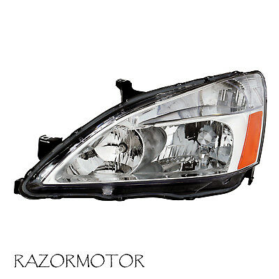2003-2007 Driver Replacement Headlight For Honda Accord w/Bulb and Socket
