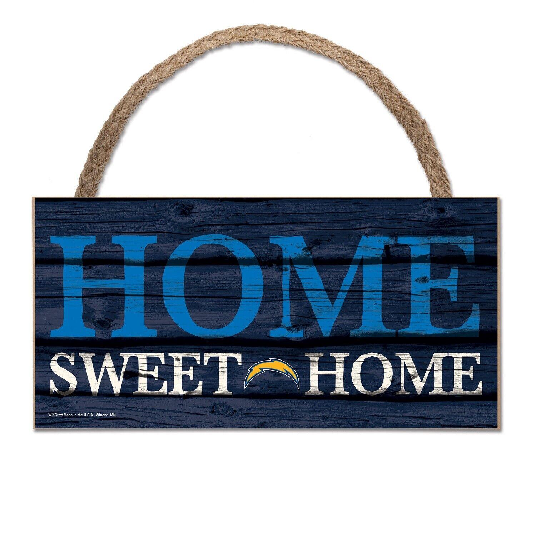 NFL Los Angeles Chargers Home Sweet Wood Sign Holzschild Holz Wandschmuck Deko