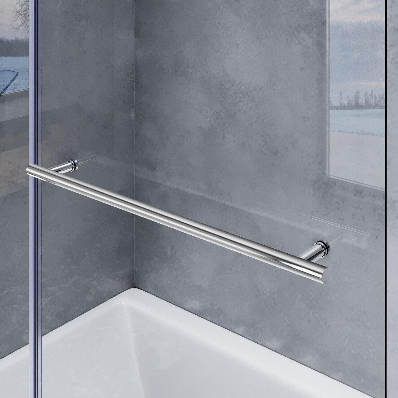 Badewannenaufsatz 2 teilig Nano Glas Handtuchhalter