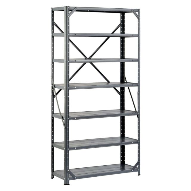 Steel Shelving Unit Heavy Duty Metal Storage Shelves Rack Garage Industrial  NEW