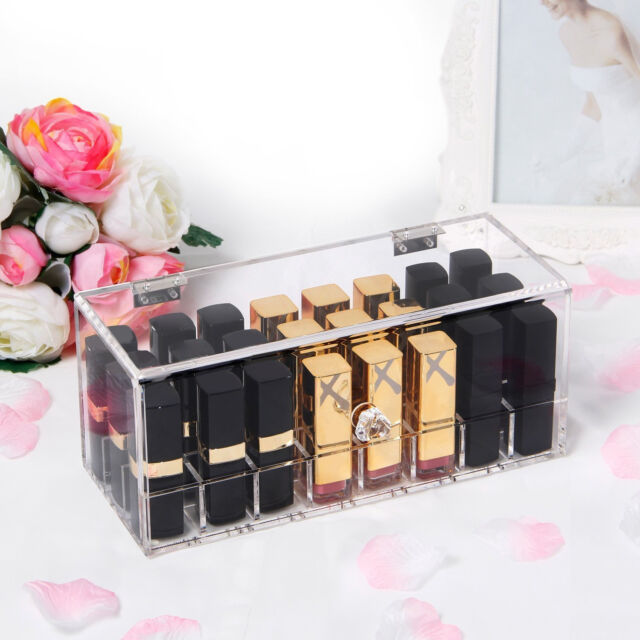 Lifewit  Lipstick Organizer Lipgloss Holder Makeup Storage 5mm Thick 24 Space