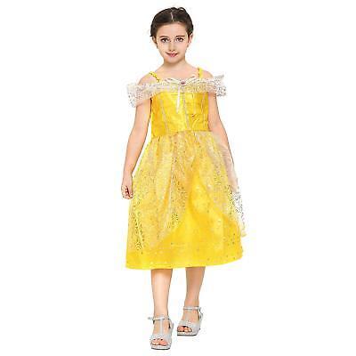 Prinzessinen-Kleid Bella / Belle für Karneval, Halloween Kindergeburtstag  ()