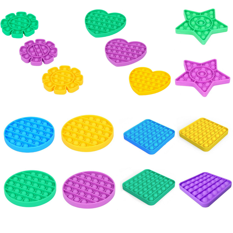 2 Pack Popit Fidget Toy Push Bubble Sensory Stress Relief Kids Family Games Pop Games