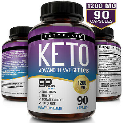 ☀ Best Keto Diet Pills 1200mg GoBHB® 90 Capsules -Weight Loss Perfect Fat (Best Weight Loss Pills)