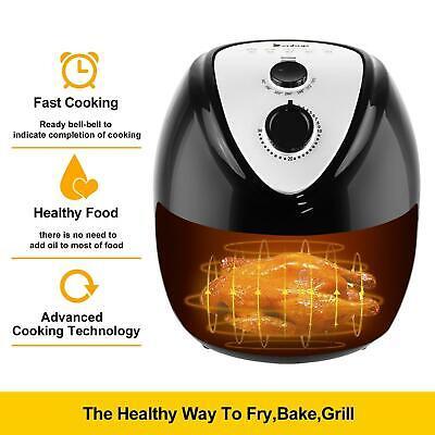 ZOKOP 6.8QT Mechanical 1800W Power Air Fryer XL Temperature Kitchen Appliance