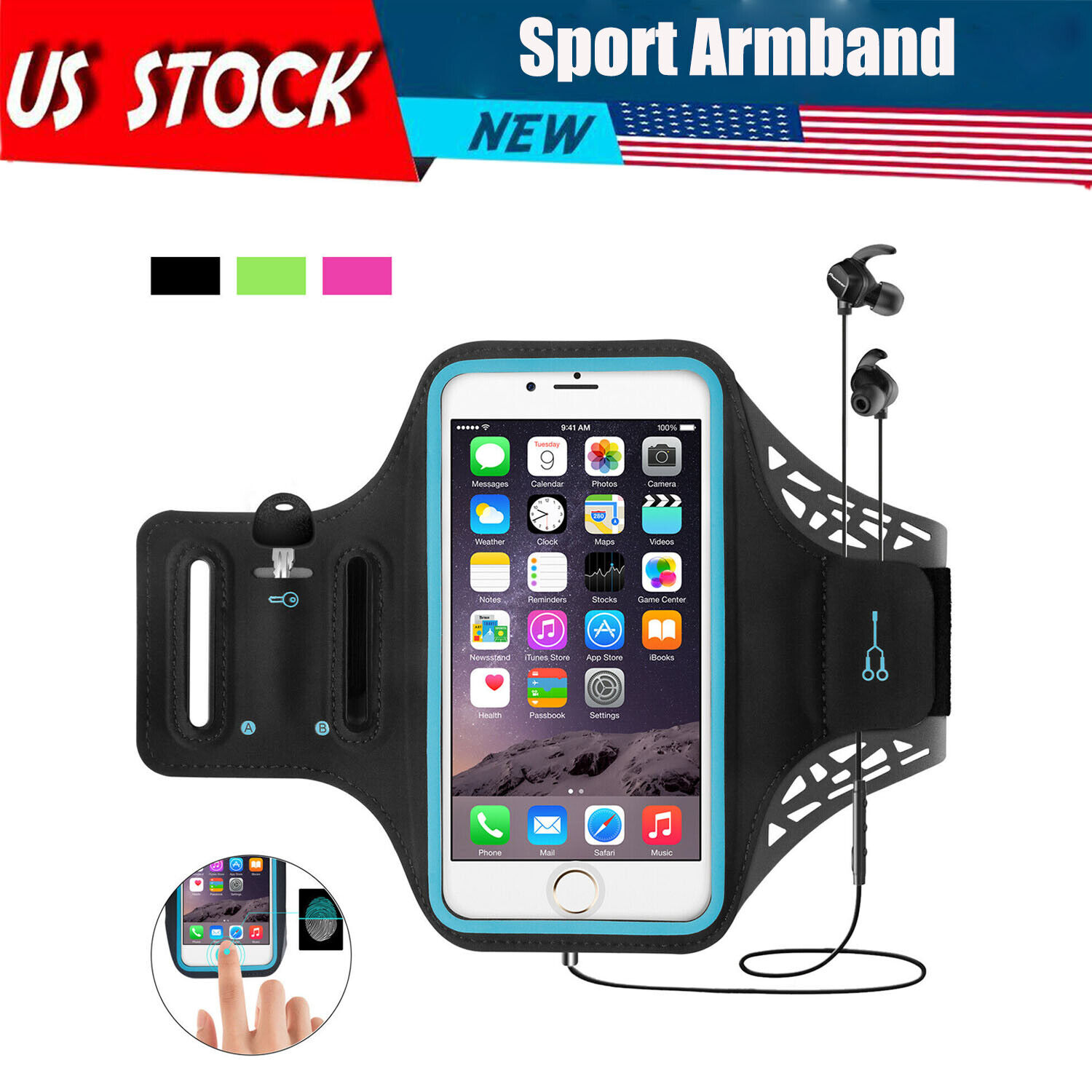 Armband For Samsung Phone Holder Gym Running Sports Jogging Exercise Bag Case Armbands