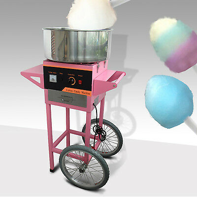 1050W ELECTRIC COTTON CANDY FLOSS MACHINE MAKER  PARTY SUPPLY CART SUGAR FLOSS