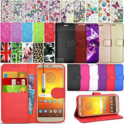 For Motorola Moto E5 Play  - Wallet Leather Case Flip Cover + Screen Protector