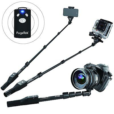 """100% Pro Selfie Stick,MonoPod Extend 49"""", Bluetooth, iPhone, GoPro, Android,DSLR"""