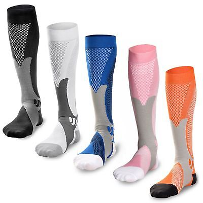 Graduated Compression Sock Over Calf Below Knee High Foot Support Stocking C10 -