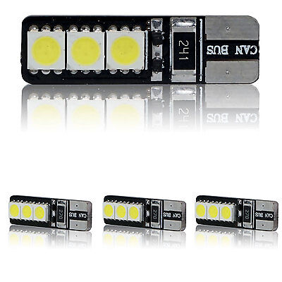 4X Canbus Error Free White T10 6Smd Wedge Led Light Bulbs W5w 168 921 194