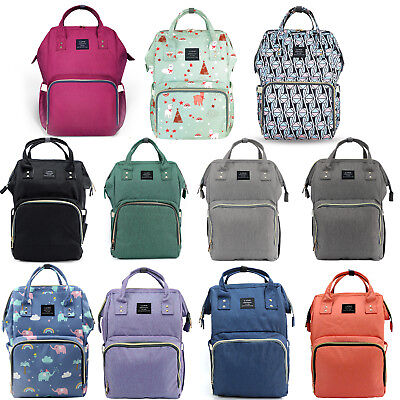 LAND Maternity Nappy Diaper Bag Large Capacity Baby Mummy Bag Travel Backpack