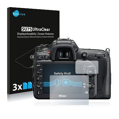 6x Displayschutzfolie für Nikon D7200 Schutzfolie Klar Folie Displayfolie