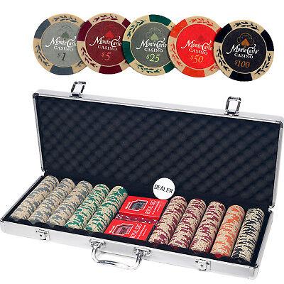 ALPS Monte Carlo Casino 500pcs Poker Set with Aluminum Case / 13.5 Gram Chips