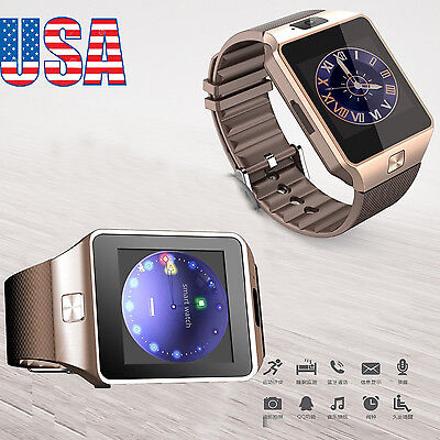 DZ09 Bluetooth Perspicacious Watch Phone + Camera SIM Card For Android IOS Phones US