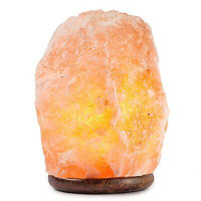 HemingWeigh Natural Himalayan Rock Salt Lamp 19-25 lbs with Wood Base